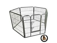 Heavy Duty Modular Puppy Exercise Play/ Whelping Pen, 158 x 77 x 80 cm 6 Pieces