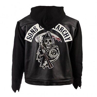 Samcro Sons Of Anarchy Leder & Fleece Highway Motorrad Bikerjacke