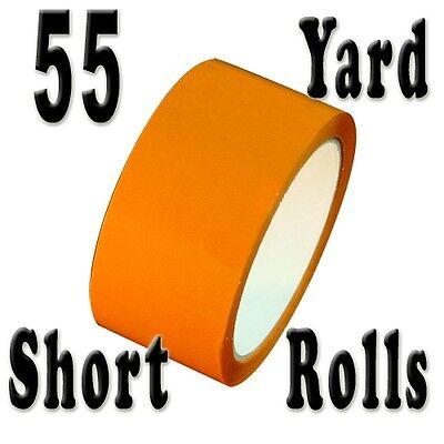 Orange Carton Sealing Tape Short Rolls 2 X 55 Yards 2.0 Mil