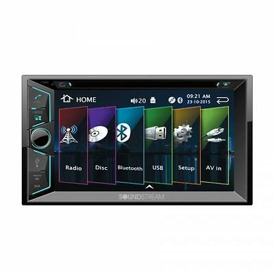 NEW Soundstream Double 2 Din VR-624B DVD/CD/MP3 Player 6.2