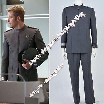 Star Trek Into Darkness Movie Captain James T Kirk Gray Costume Jacket Pants New