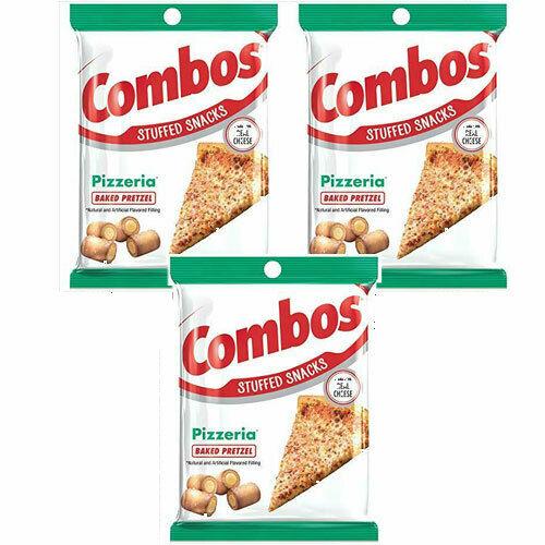 COMBOS Pizzeria Pizza Baked Pretzel Stuffed Snacks, 6.3 Oz (3-Large Bags)