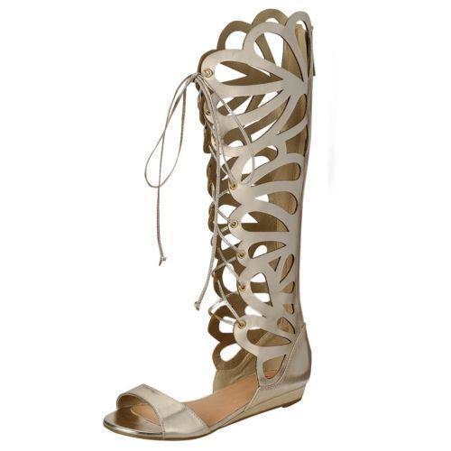 Knee High Roman Sandals Ebay