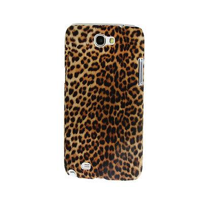 Hardcase Cover Hülle Case für Samsung Note 2 Leopard Muster Braun  Leopard Hard Case Cover