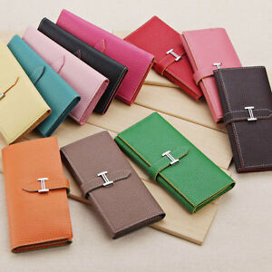 New-Fashion-Lady-Women-H-Buckle-Leather-Purse-Clutch-Wallet-Card-Bags-Handbag
