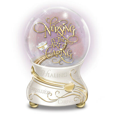NURSING is the Art of Caring MUSICAL Snowglobe NEW