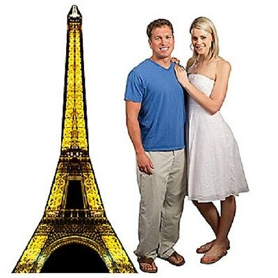 PARIS EIFFEL TOWER STANDEE * Paris theme party decor * photo opp. * Buy It Now