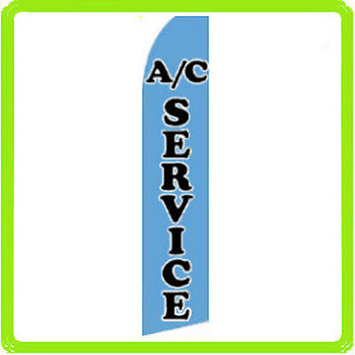 Ac Service Swooper Flag Feather Flutter Air Conditioning Auto Sign 11.5- Blue F
