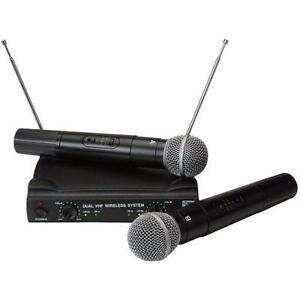 PylePro PDWM2500 Dual VHF Wireless Microphone System Great for KARAOKE