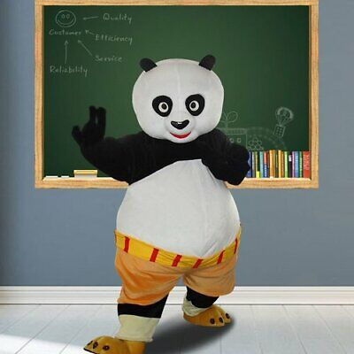 Panda Bear Halloween Costume For Adults (Halloween Panda Bear Mascot Costume Suits Cosplay Party Clothing Carnival)
