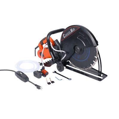 Electric 14 Cut Off Saw Wetdry Concrete Saw Cutter Guide Roller W Attachment