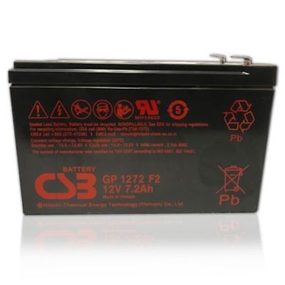 NEW CSB 12v 7.2Ah Sealed Lead Acid OEM Replacement Battery GP1272 F2 Brand New 12 F2 Sealed Lead