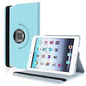 eForCity 360-Degree Swivel Leather Case for Apple iPad mini, Light Blue (PAPPIPDMLC23)