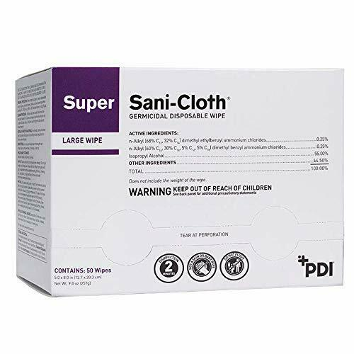 PDI Germicidal Disposable Wipe Large 5 in. x 8 in. (Box of 50)