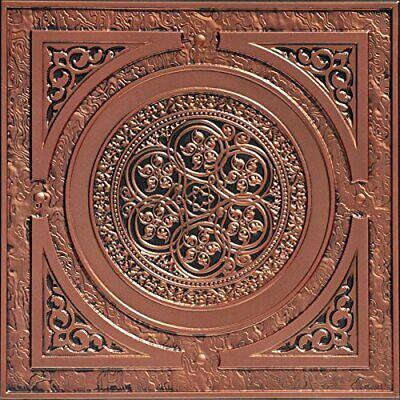 # 225 - Antique Copper 2'x2' PVC Faux Tin  Decorative Ceiling Tile Glue Up/Grid