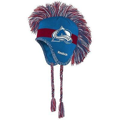 Youth Reebok Colorado Avalanche Mohawk Knit Cap *NWT* NHL licensed -- free (Youth Avalanche Cap)