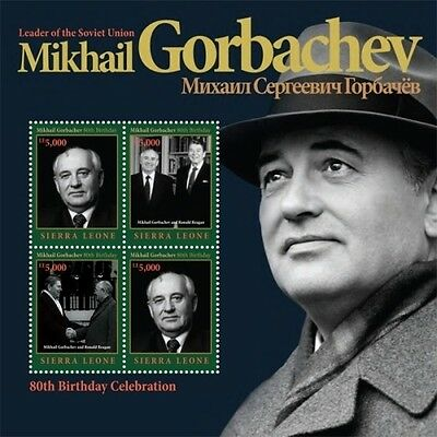 Sierra Leone 2011 - Mikhail Gorbachev - Sheet of 4 stamps MNH