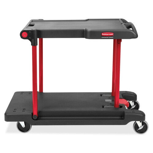 Rubbermaid Convertible Mobile Cart, 2 Shelf, 400 lb Capacity RCP430000