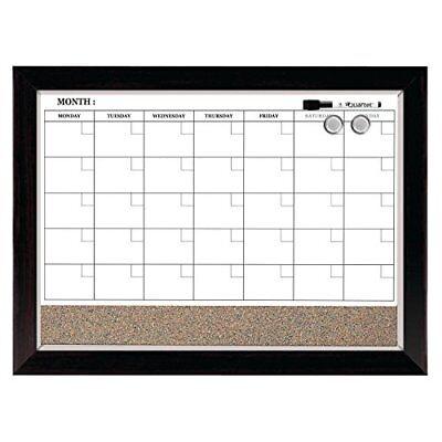 Quartet Dry Erase Calendar Board, Planner, Magnetic, Combo White Board & Cork Bo ()