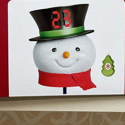2020 Hallmark COUNTDOWN TO CHRISTMAS SNOWMAN TREE TOPPER *NIB* FREE SHIPPING US!