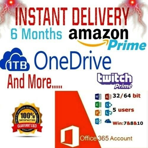 Edu Email √ OneDrive 1Tb √ Amazon Prime √ Twitch Prime √ Office 365