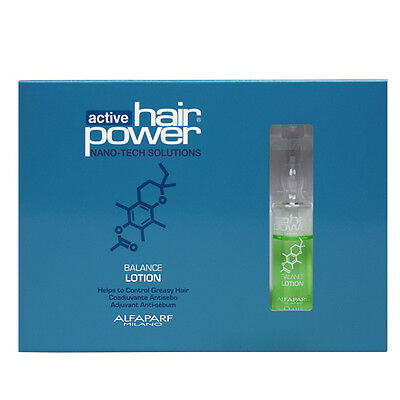 Used, ALFAPARF ACTIVE HAIR POWER  BALANCE LOTION 6 Vials of 0.33 oz for sale  Shipping to United States