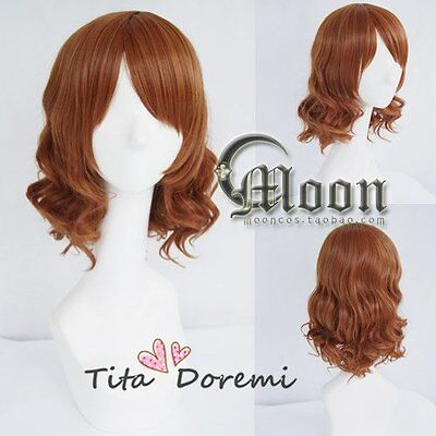 Halloween Wig Cosplay Sound! Euphonium Oumae Kumiko brown fashion Short Hair](Halloween Sounds Short)