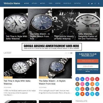 Watches Store - Online Business Website For Sale - Work From Home Domain