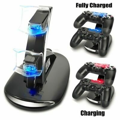 para PS4 PlayStation 4 Doble 2 Mando LED Soporte Cargador Base Station
