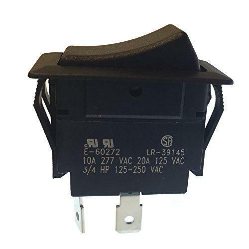 Gardner Bender GSW-45 Heavy-Duty Electrical Rocker Switch, SPST, ON-OFF, 20