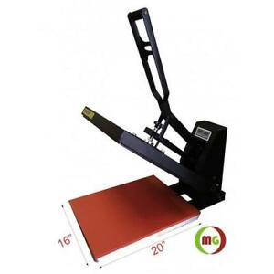 "New! 16 X 20"" Heat Press (Flat) with Teflon-coated heat element----Vertical Style"