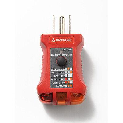 Amprobe St-102b Ac Electrical Receptaclesocket Tester Gfci 110-125v