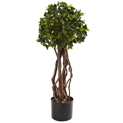 - Nearly Natural 5397 English Ivy Topiary UV Resistant Tree- 2.5-Feet- Green