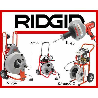 Ridgid K-750 42007 K-400 T2 52363 K-45-1 36013 Kj-2200-c Jetter 63882