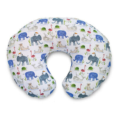 Boppy Cotton Blend Nursing Pillow and Positioner Slipcover, Watercolour Animals