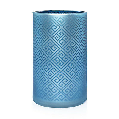Greek Jar - Yankee Candle Greek Isle Glass Jar Candle Holder Blue - New!