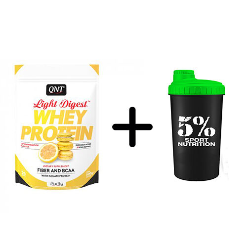 QNT Light digest whey protein 500g Proteine Isolate Light + Shaker Omaggio!!
