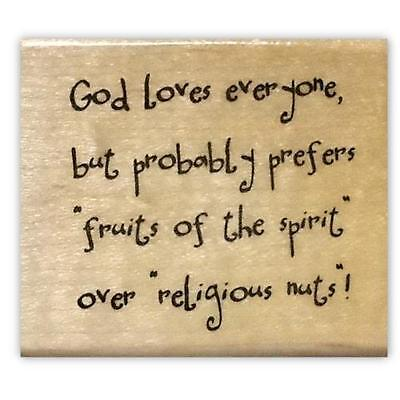 Fruits of the Spirit - Christian humor Mounted rubber stamp, witty saying - Fruits Of The Spirit Craft