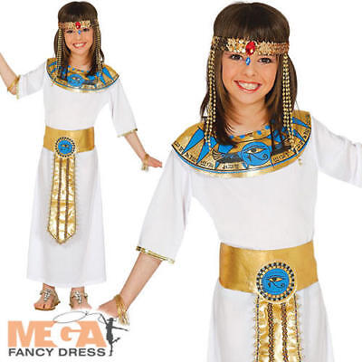 Ancient Egypt Costumes For Girls (Egyptian Queen Girls Fancy Dress Cleopatra Ancient Egypt Goddess Kids Costume)