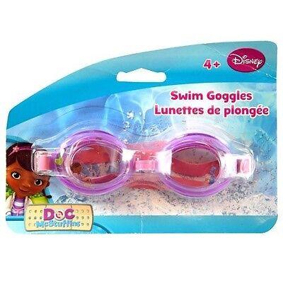 Disney Licensed Doc Goggle   4  Girls Kids Swim Googles Summer Pool