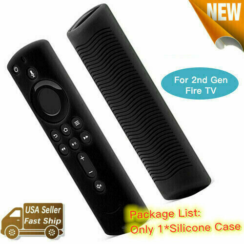 NEW For 2nd Gen Fire TV Stick Alexa Voice Remote Silicone Shock Proof Case Cover