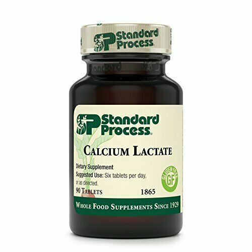Standard Process Calcium Lactate, 90 Tablets, Healthy Bone Density & Remodeling