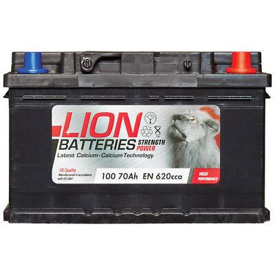 Lion 100 100 Car Battery 3 Years Warranty 70Ah 620cca 12V L278 x W175 x H175mm