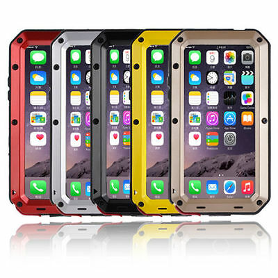 Shockproof Waterproof Aluminum Glass Metal Case Cover for iP