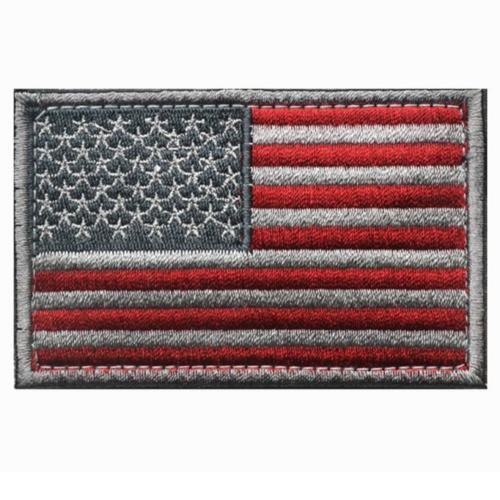 Outdoor Shoulder Military Tactical Backpack Travel Camping  Hiking Trekking Bag Silver USA Flag