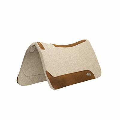 "Weaver Leather 35-2712-1 Contoured Wool Blend Felt Saddle Pad 1"" Tan"