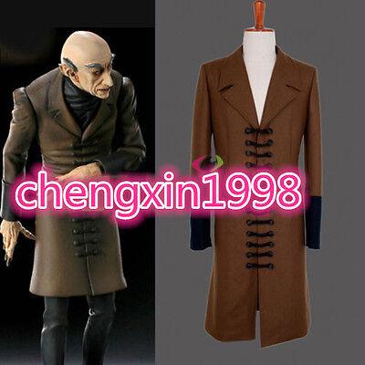 Nosferatu Phantom of the Night Cosplay Jacket Adult Men's Halloween Costume A979 (Nosferatu Costume)