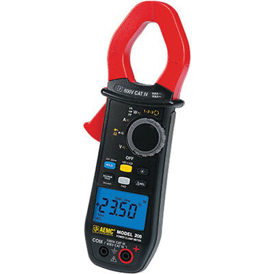 Aemc 205 2139.40 Trms Power Clamp Meter 1000vacdc 600aac900adc