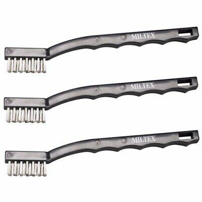 Integra Miltex Dental Instrument Cleaning Brushes Steel Bristles Pkg3 3-1001