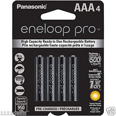 4 x Panasonic Pro Eneloop AAA 950mAh NiMH Rechargeable Battery **USA seller**